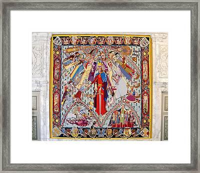 Great Hall Tapestry - Christiansborg Palace - Copenhagen Denmark Framed Print
