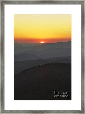 Great Smokie Mountains National Park Sunset Framed Print by Dustin K Ryan