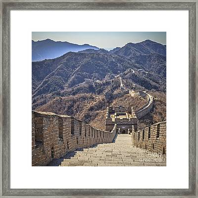 Great Wall Of China Mutianyu Framed Print by Colin and Linda McKie