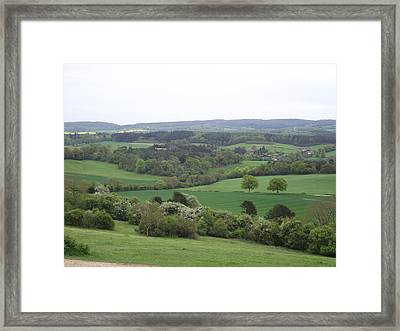 Green And Pleasant Land Framed Print by Jayne Wilson