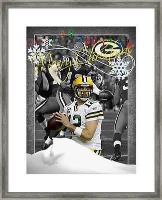 Green Bay Packers Christmas Card Framed Print