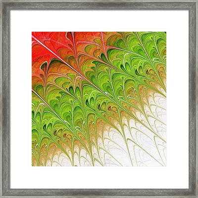Green Folium Framed Print by Anastasiya Malakhova