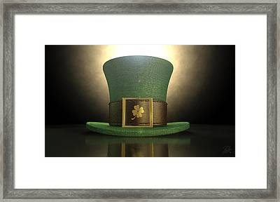 Green Leprechaun Shamrock Hat Framed Print by Allan Swart