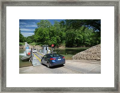 Green River Car Ferry Framed Print by Jim West