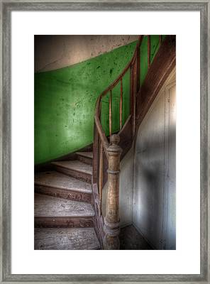 Green Stairs Framed Print