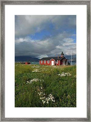 Greenland, Erik's Fjord, Brattahlid Framed Print by David Noyes