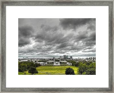 Greenwich And Docklands Hdr Framed Print by David French