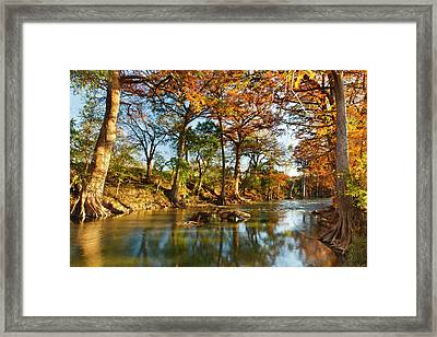 Guadalupe River, Texas Hill Country Framed Print by Larry Ditto