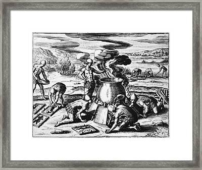 Guiana Gold Casting, 1599 Framed Print by Granger