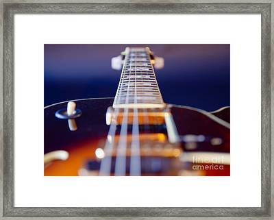 Guitar Framed Print by Stelios Kleanthous