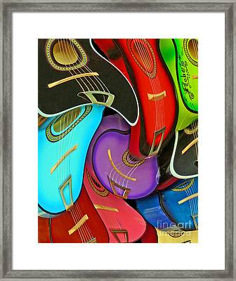Guitar Swirl Framed Print