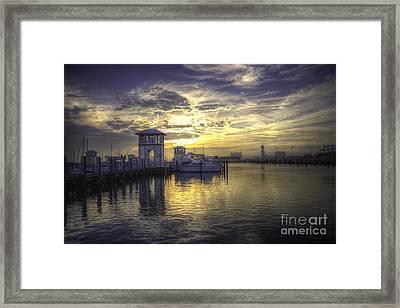 Gulfport Harbor Framed Print