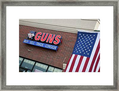 Gun Store Framed Print by Jim West