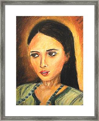 Gypsy Girl Framed Print by Constantinos Charalampopoulos