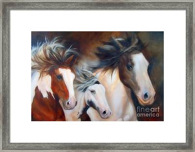 Framed Print featuring the painting Gypsy Run by Karen Kennedy Chatham