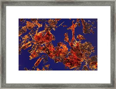 Haemoglobin Crystals Framed Print by Antonio Romero