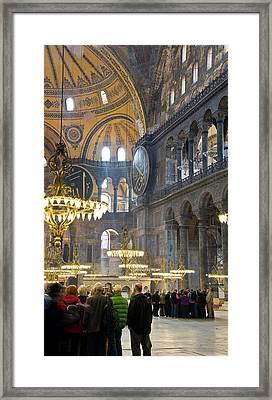 Hagia Sophia Scene Four Framed Print by Cliff C Morris Jr