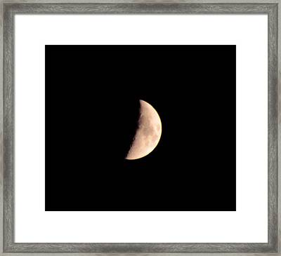 Half Moon Framed Print by Bill Cannon