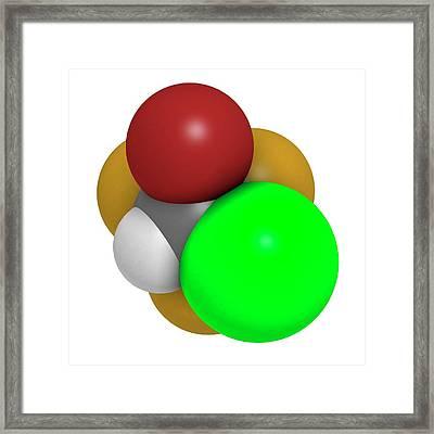 Halothane General Anesthetic Drug Framed Print by Molekuul