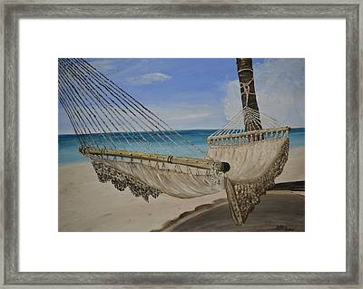 Framed Print featuring the painting Hammock by Debbie Baker