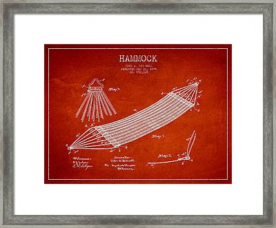 Hammock Patent Drawing From 1895 Framed Print by Aged Pixel