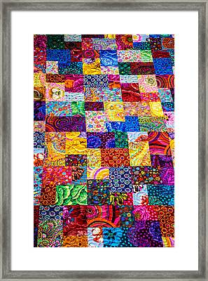 Hand Made Quilt Framed Print by Sherman Perry