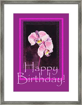 Happy Birthday  Framed Print by Irina Sztukowski