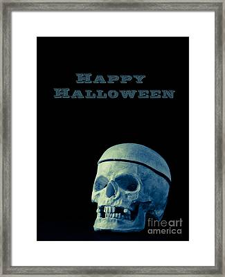 Happy Halloween Card 2 Framed Print by Edward Fielding