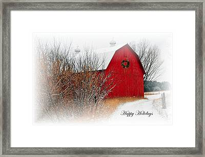 Happy Holidays Framed Print by Terri Gostola