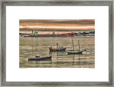 Framed Print featuring the photograph Harbor Morning by Richard Bean