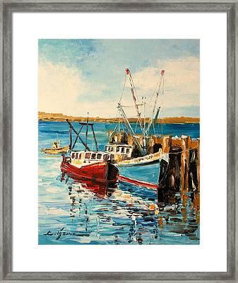 Harbour Impression Framed Print
