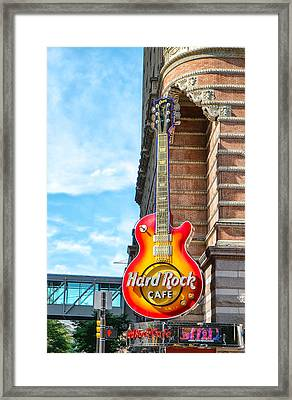 Hard Rock Cafe Guitar Framed Print