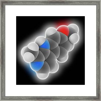 Harmine Drug Molecule Framed Print