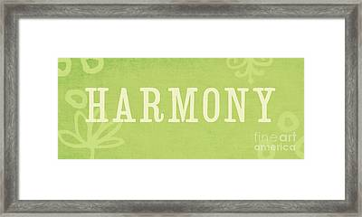 Harmony Framed Print by Linda Woods