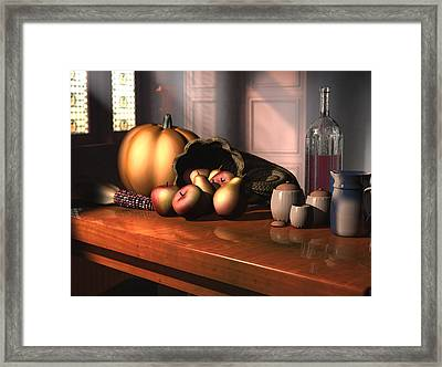 Harvest Still Life Framed Print by Jayne Wilson