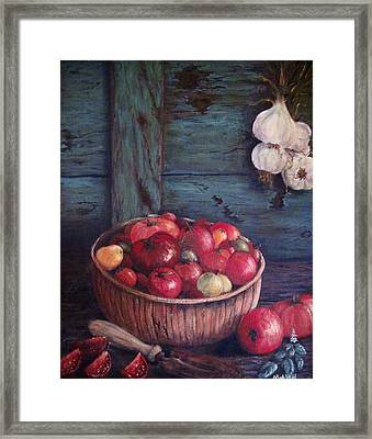 Framed Print featuring the painting Harvest Time by Megan Walsh
