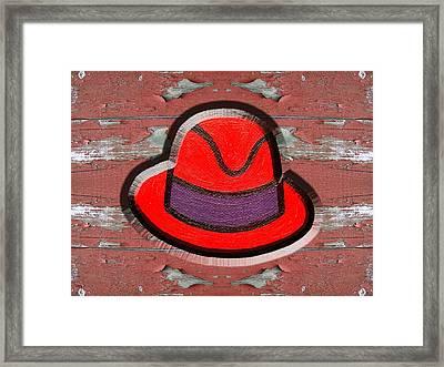 Big Red Hat Framed Print by Patrick J Murphy
