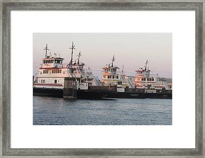 Hatteras Ferry  Framed Print by Cathy Lindsey