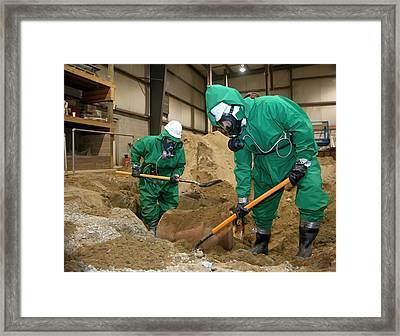 Hazardous Materials Cleanup Training Framed Print
