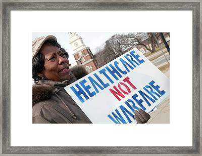 Healthcare Reform Campaign Framed Print by Jim West