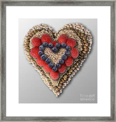 Heart-healthy Foods Framed Print by Gwen Shockey