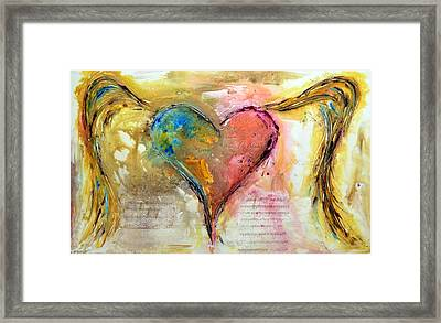 Heart Of A Lover Framed Print