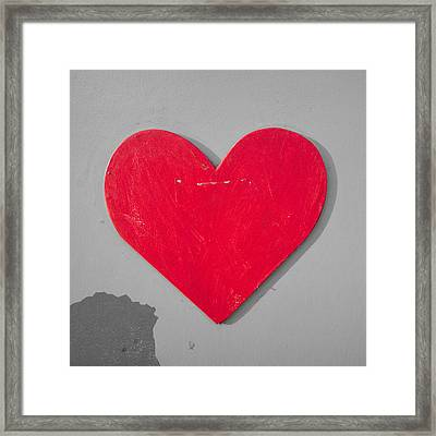 Heart Shape Framed Print