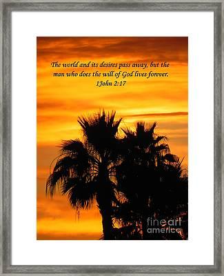 Heavenly Sunset Framed Print by Deb Halloran