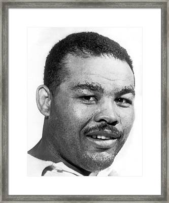 Heavyweight Champion Joe Louis Framed Print by Underwood Archives