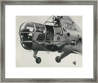 Helicopter Rescue - Royal Navy Adopts New Apparatus Framed Print by Retro Images Archive