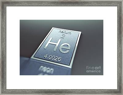Helium Chemical Element Framed Print by Science Picture Co