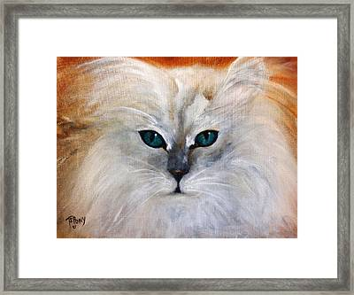 Framed Print featuring the painting Hemingway by Barbie Batson