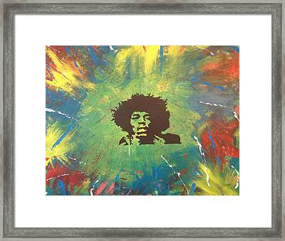 Framed Print featuring the painting Hendrix by Scott Wilmot