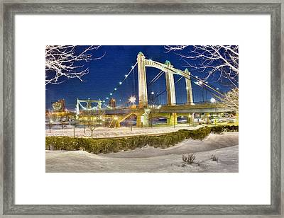 Hennepin Avenue Bridge Framed Print by Jason Alexander